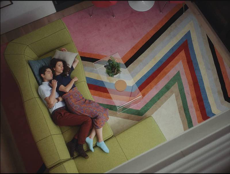 Katie Findlay and James Sweeney in Straight Up