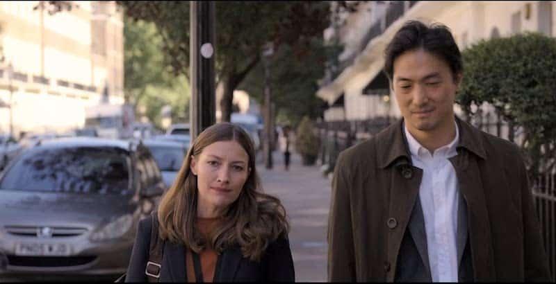 Kelly Macdonald and Takehiro Hira in Giri/Haji