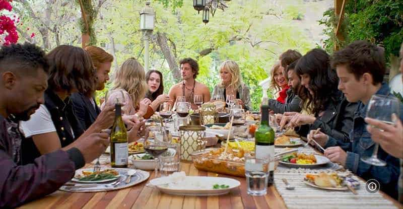 Jane Seymour, Malin Akerman, Christine Taylor, Aisha Tyler, Kat Dennings, Ryan Hansen, Deon Cole, Chelsea Peretti, Mike Rose, Andrew Santino, Jack Donnelly, Scout Durwood, and Rhea Butcher in Friendsgiving