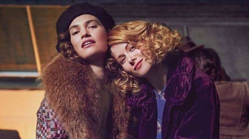 Emily Beecham and Lily James in The Pursuit of Love