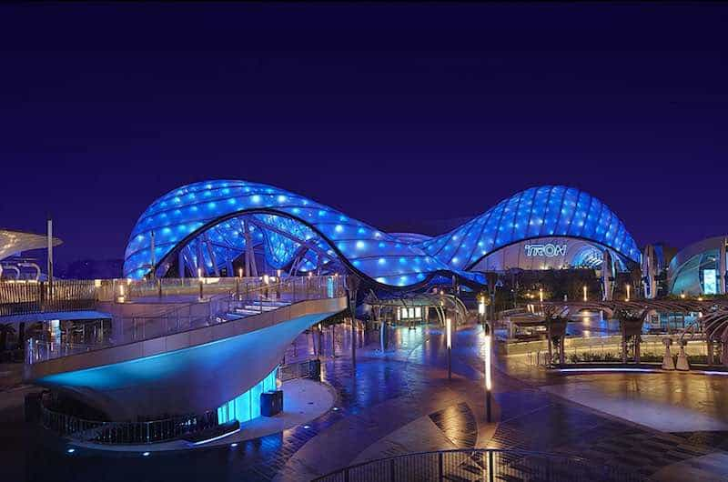 The Tron attraction in Behind the Attraction