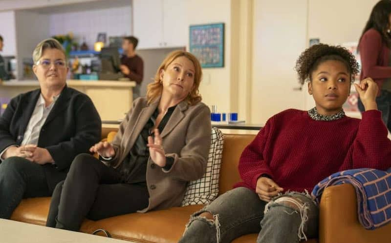 Rosie O'Donnell, Laurel Holloman and Jordan Hull in The L Word: Generation Q
