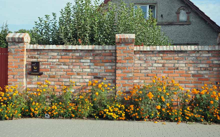 steinmauer garten klinker steinmauer garten klinker performal, Gartenarbeit ideen