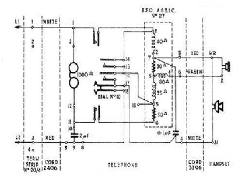 Telephone Western Electric 202 Wiring Diagram Western