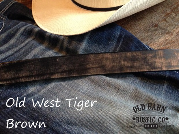 Old Barn Rustic Co 187 Old West Tiger Brown