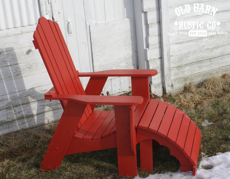 red adirondack chairs ergonomic chair delhi old barn rustic co
