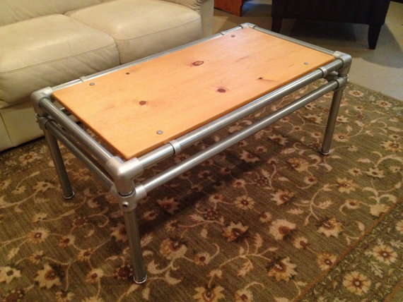 Old Barn Rustic Co  Galvanized Pipe Coffee Table