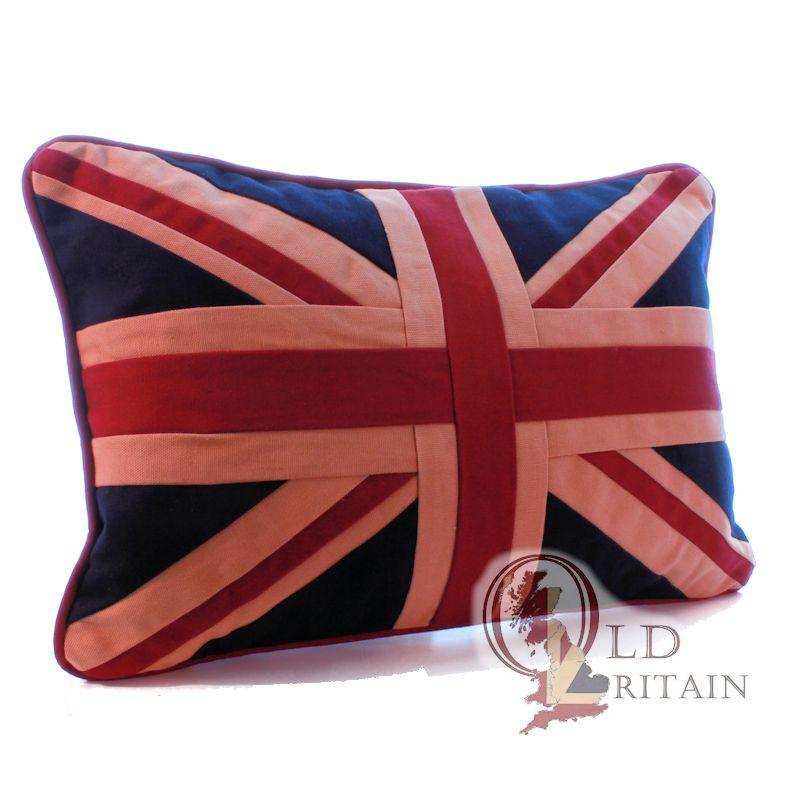 Union Jack sofa cushions