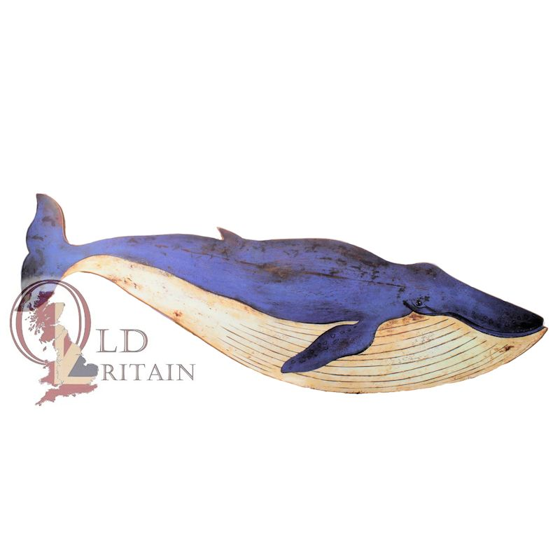 blue whale wall plaque