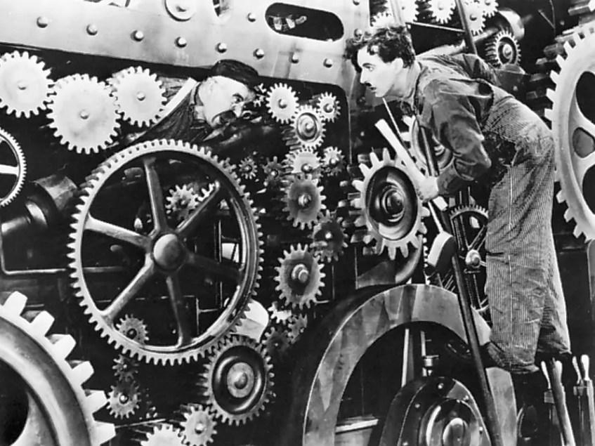 Filmy Charliego Chaplina - Dzisiejsze czasy