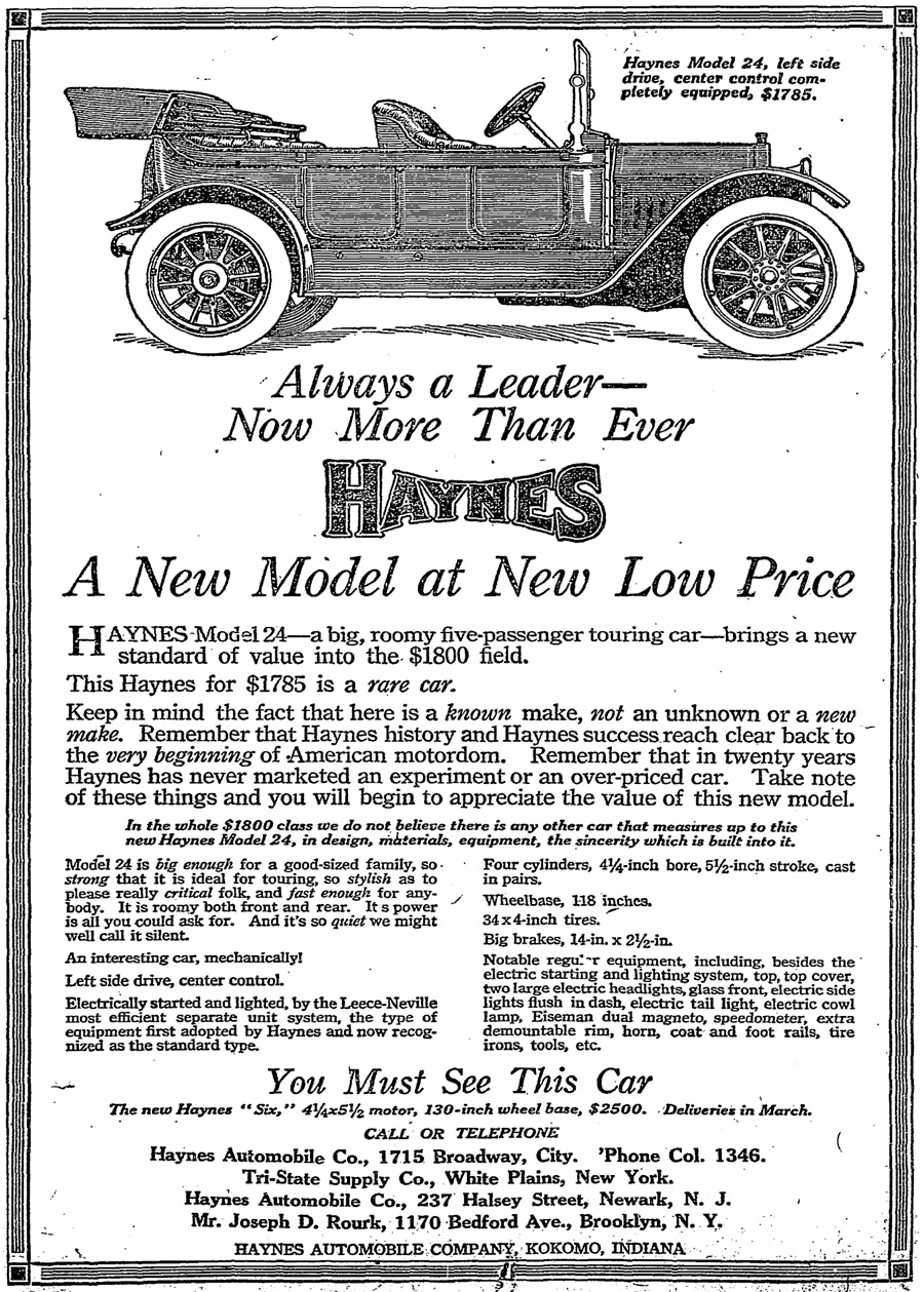 Directory Index: Haynes-Apperson Ads