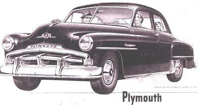 The image of the Plymouth Sedan 1952 is permanently etched in my memeory!