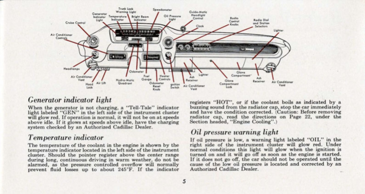 1960 Cadillac Eldorado Owners Manual