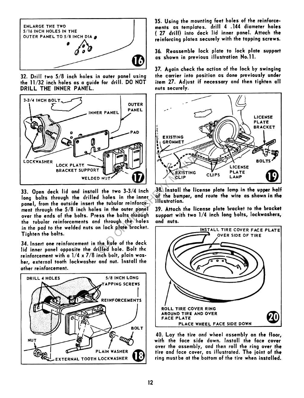 1955 Chevrolet Accessories Manual