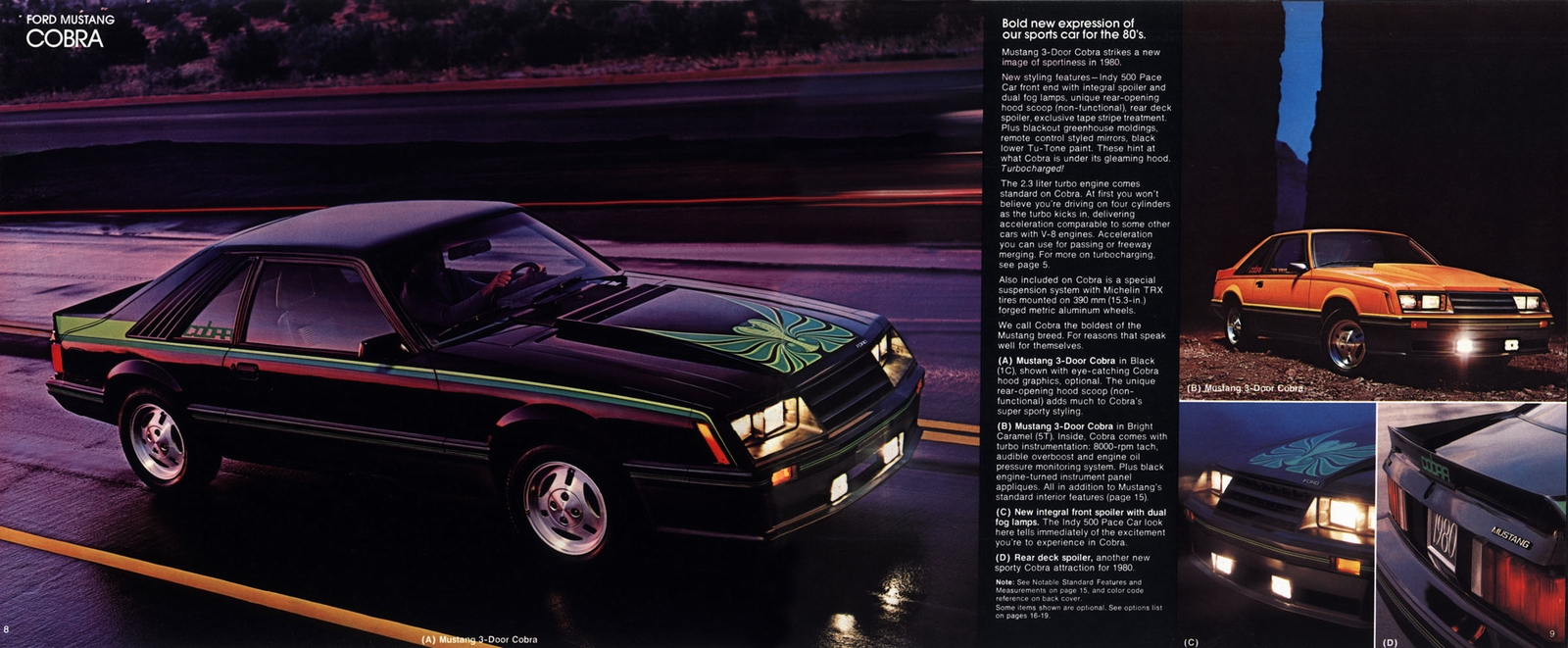 1980 ford mustang cobra hatchback coupe eighties cars