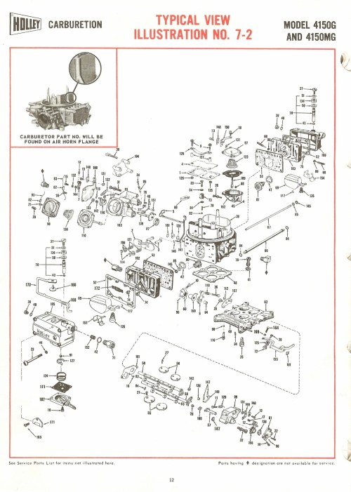 small resolution of holley carburetor diagram wiring diagram for you holley carburetor vacuum diagram holley 4150g and 4150mg exploded