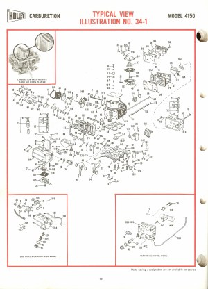 Holley 4150 Exploded Diagrams  The Old Car Manual Project