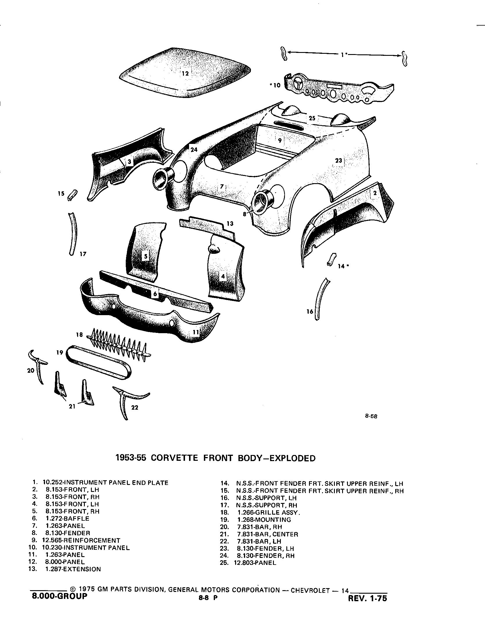 Group8 Sheet Metal Heater / 1953-1973 Corvette Parts and