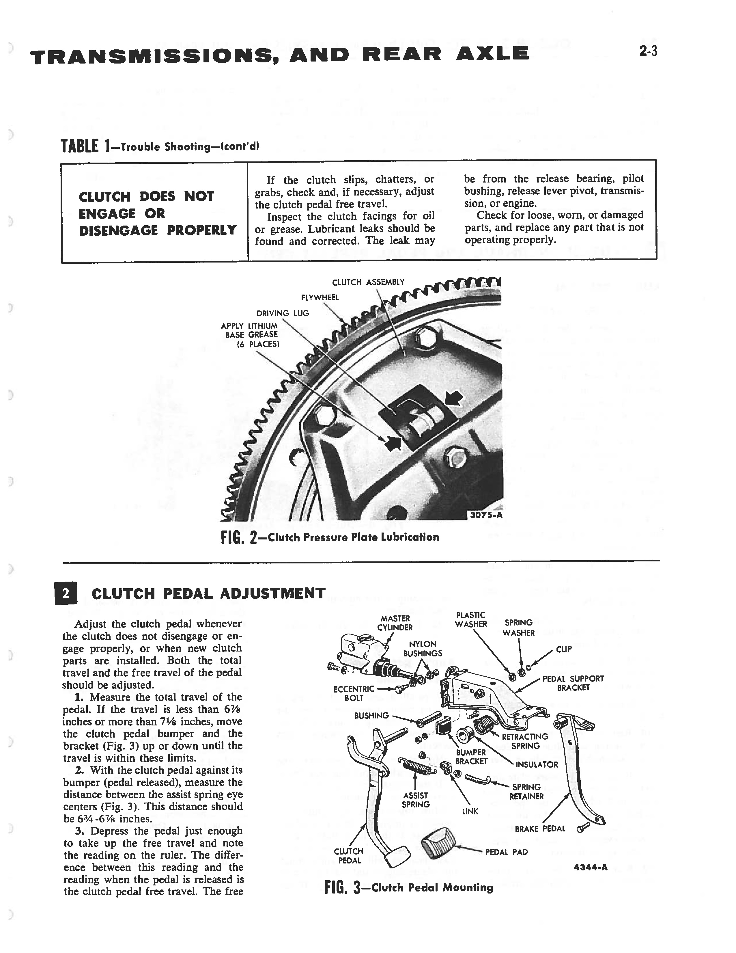 1958 Ford Thunderbird Shop Manual page 89 of 360