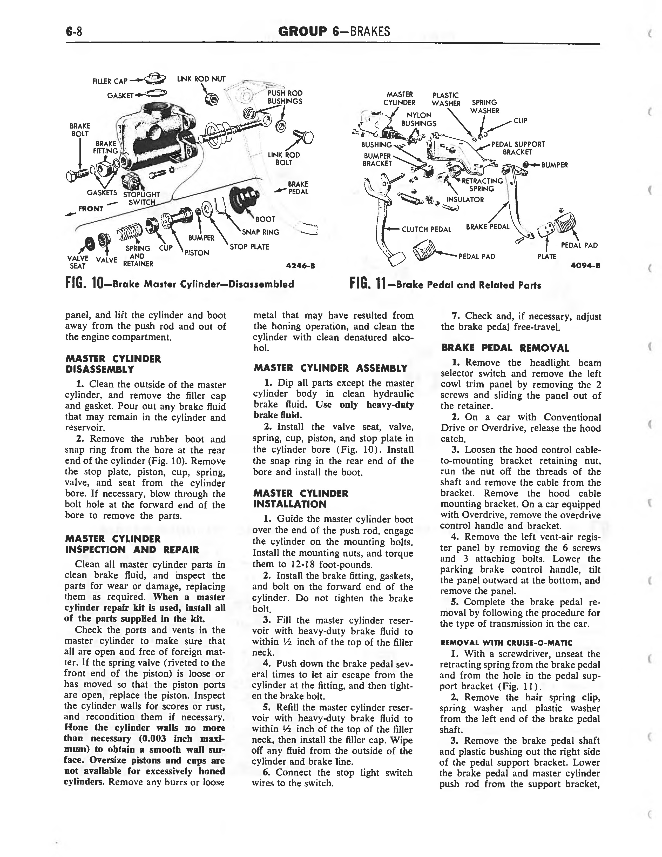 1958 Ford Thunderbird Shop Manual page 228 of 360