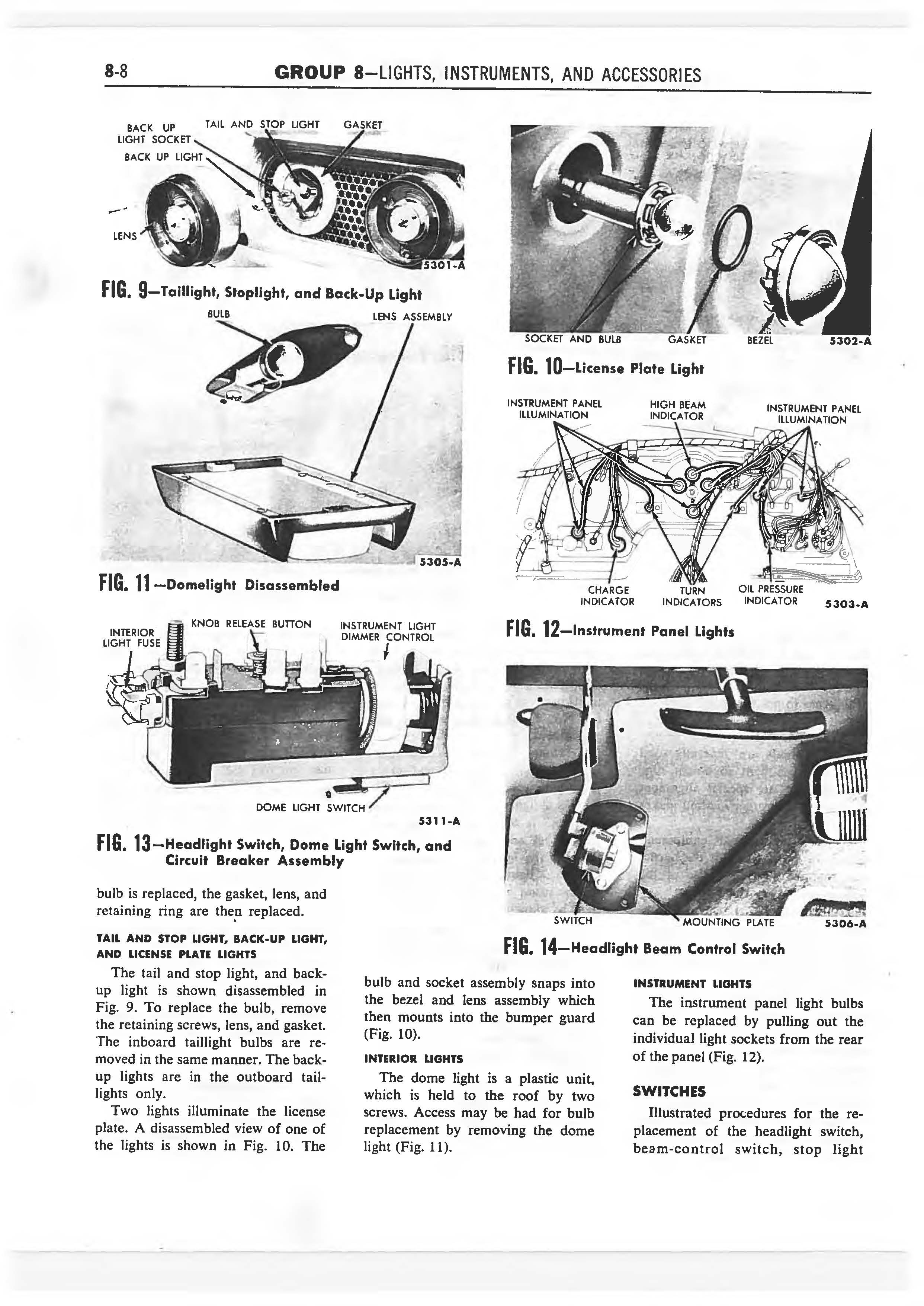 1958 Ford Thunderbird Shop Manual page 273 of 360