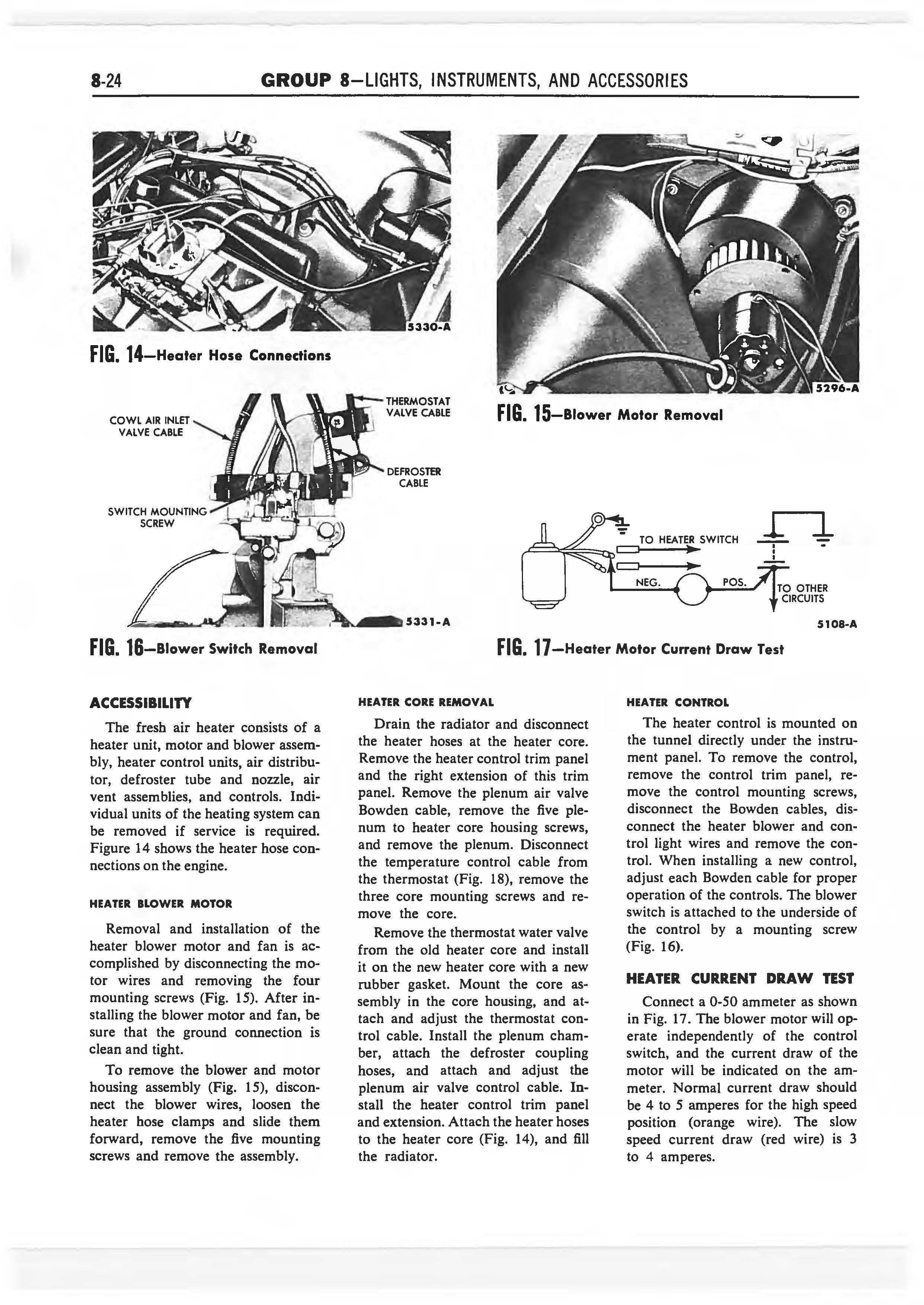 1958 Ford Thunderbird Shop Manual page 289 of 360