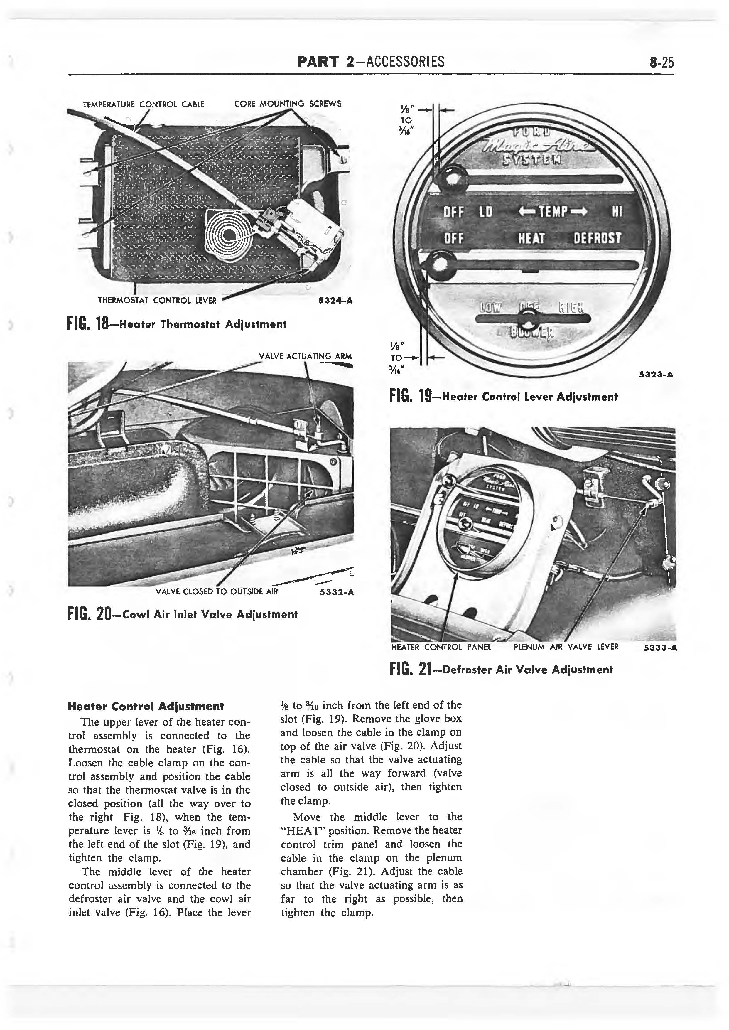 1958 Ford Thunderbird Shop Manual page 290 of 360