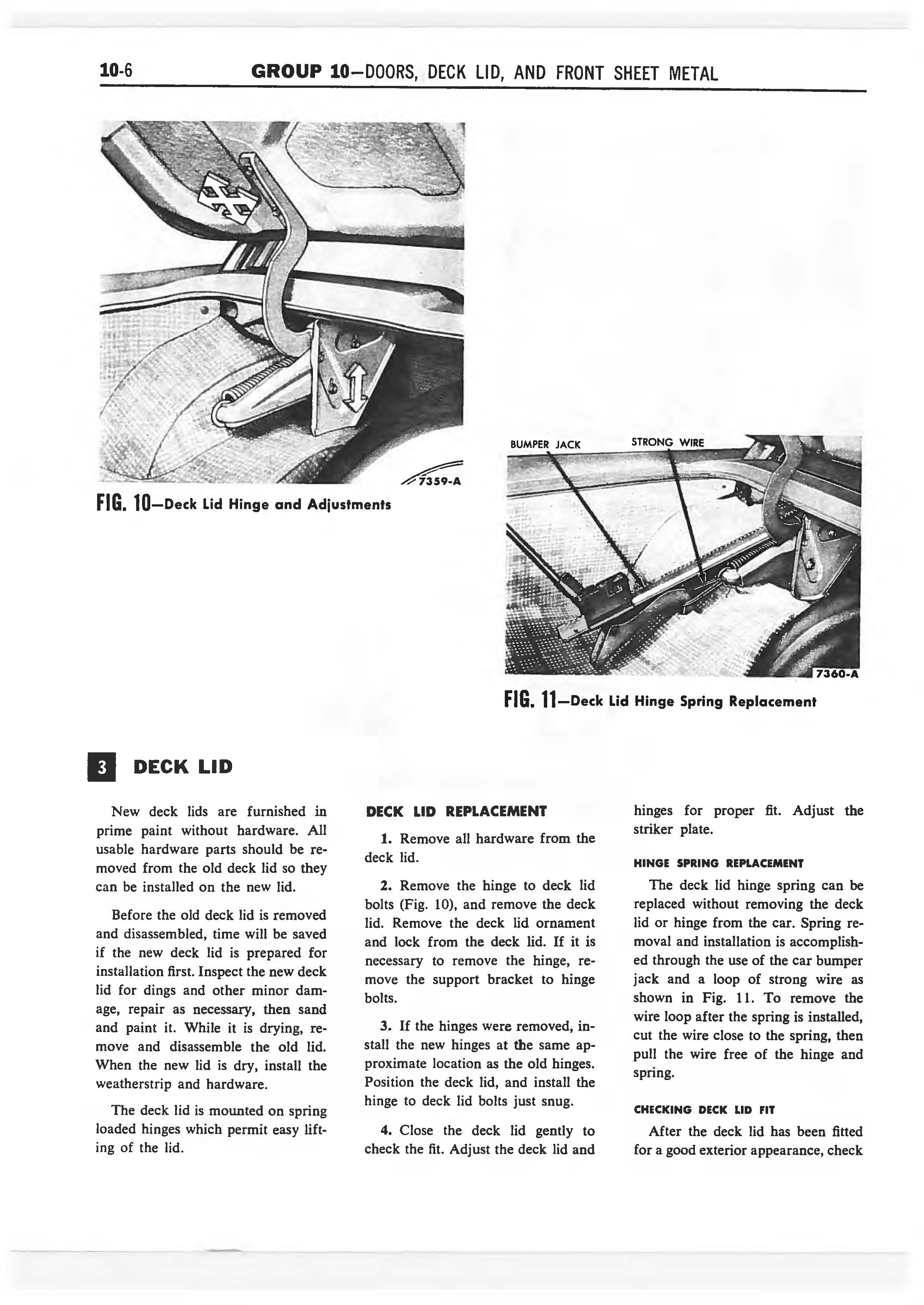 1958 Ford Thunderbird Shop Manual page 309 of 360