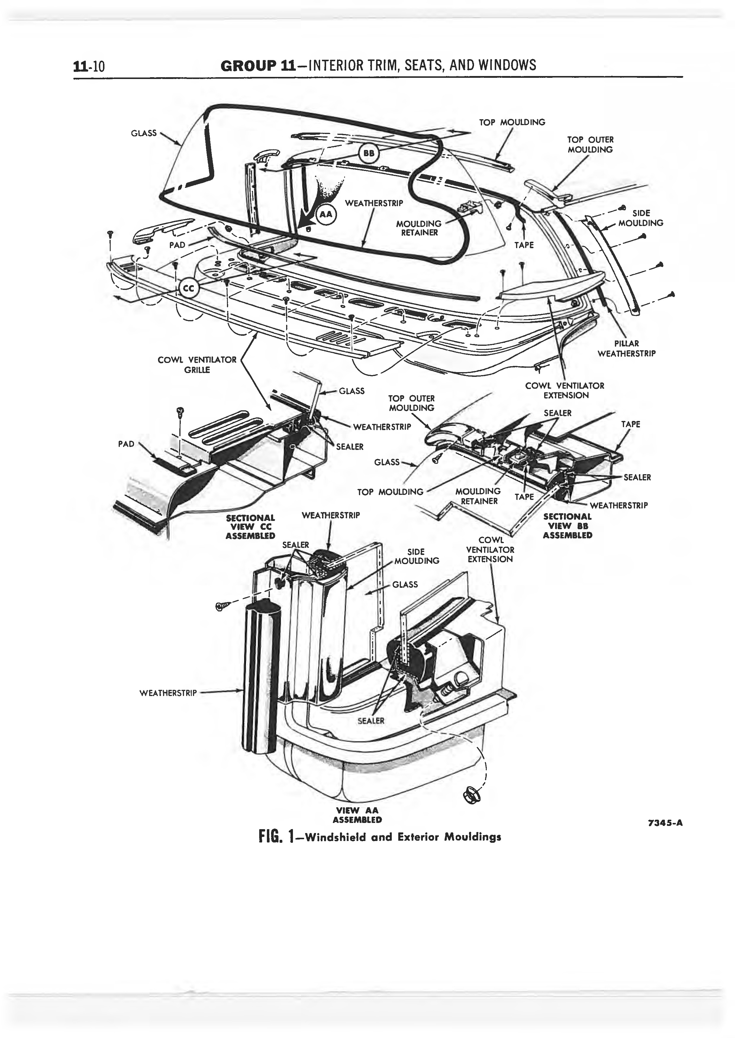 1958 Ford Thunderbird Shop Manual page 323 of 360