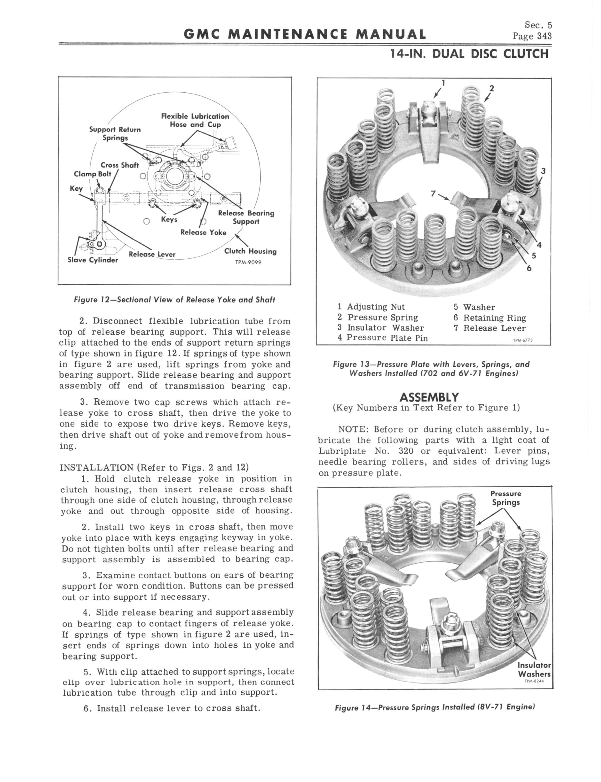 1964 GMC Series 5500-7100 Maintenance Manual page 351 of 834