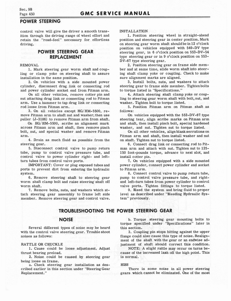 1966 GMC Service Manual Series 4000-6500 page 456 of 506