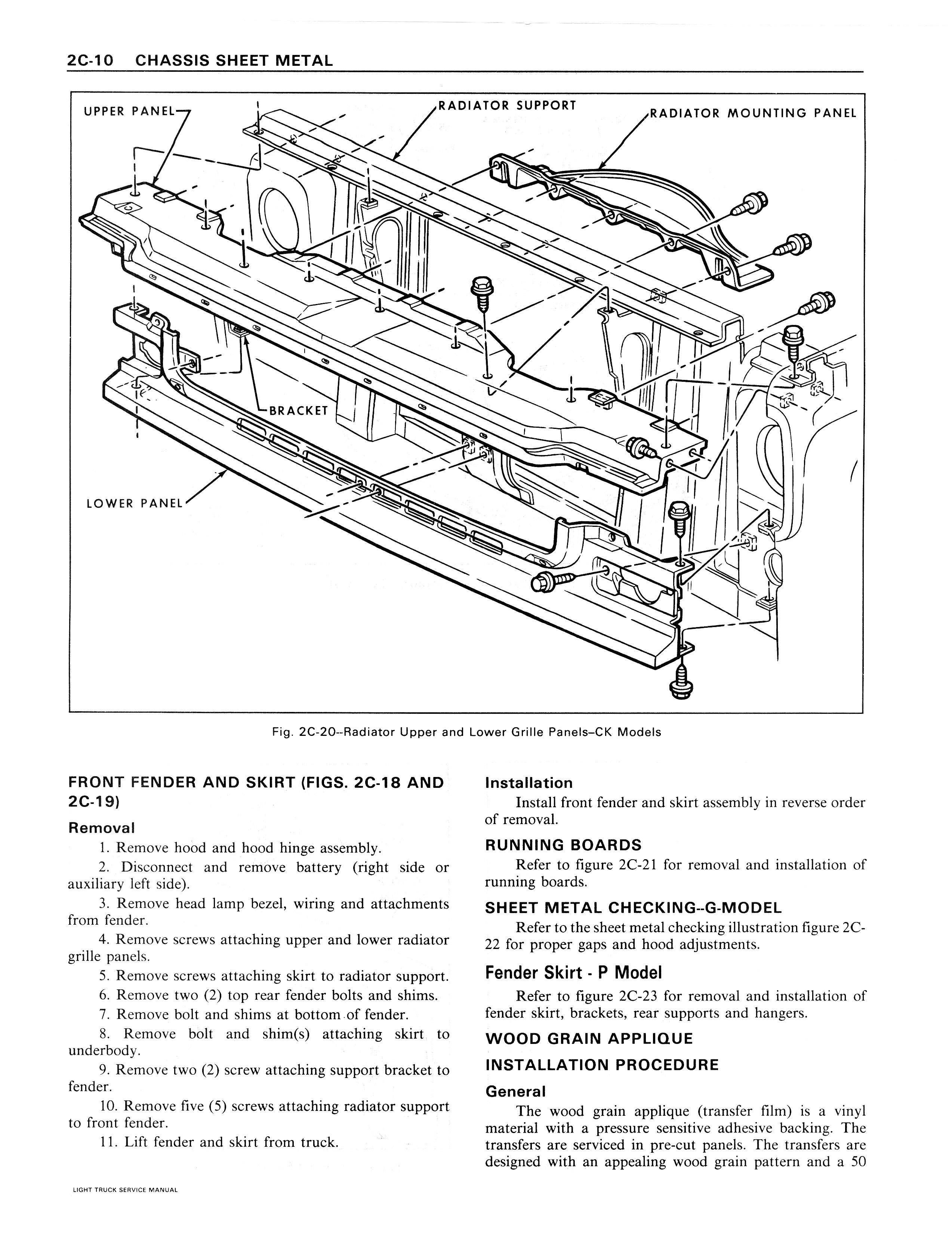 1979 GMC Series 10-35 Chassis Sheet Metal