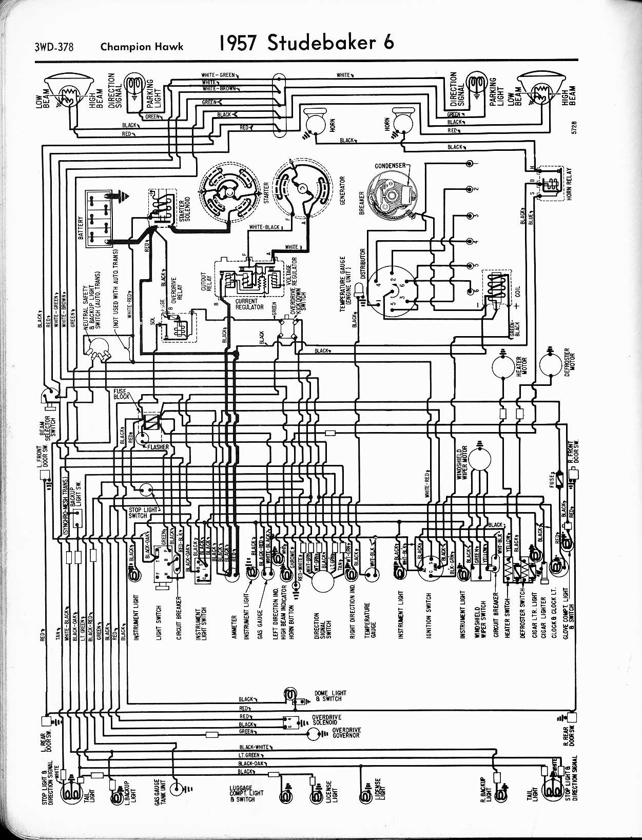 studebaker wiring diagrams for cars and