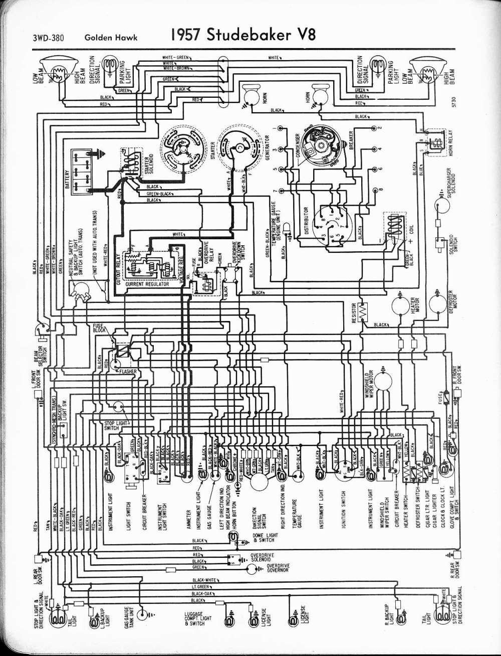 medium resolution of studebaker wiring diagrams the old car manual project wiring diagram for 1957 studebaker v8 golden hawk