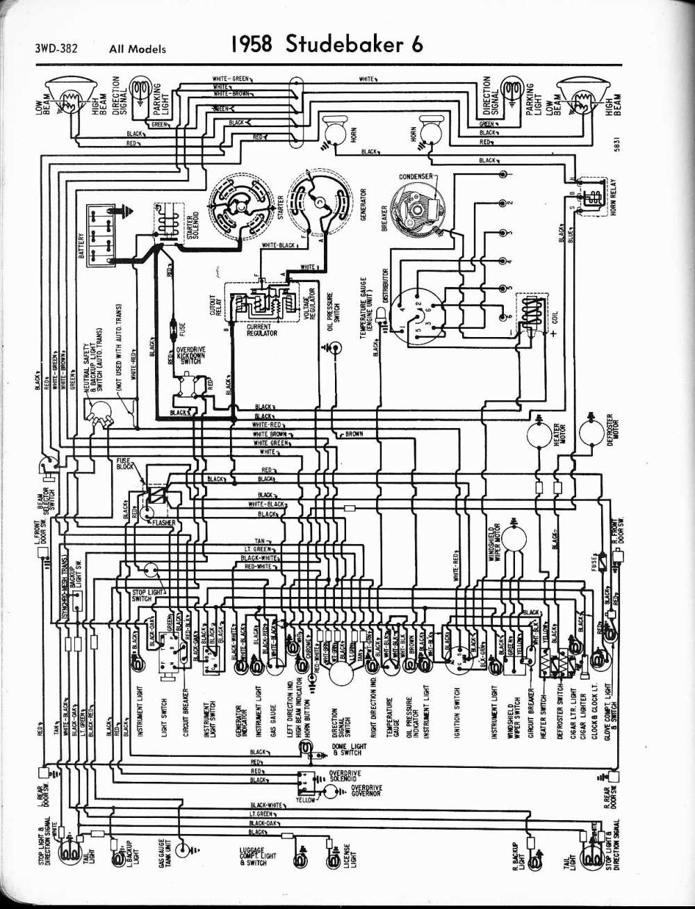 medium resolution of wiring diagram for 1958 studebaker and packard clipper schema 1950 packard wiring diagram