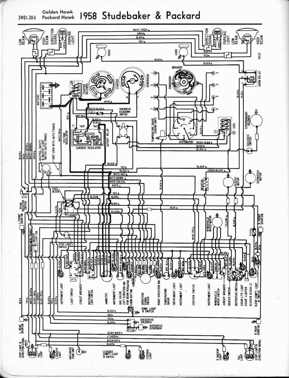 medium resolution of studebaker wiring diagrams the old car manual project electrical wiring diagram for 1957 1959 studebaker truck