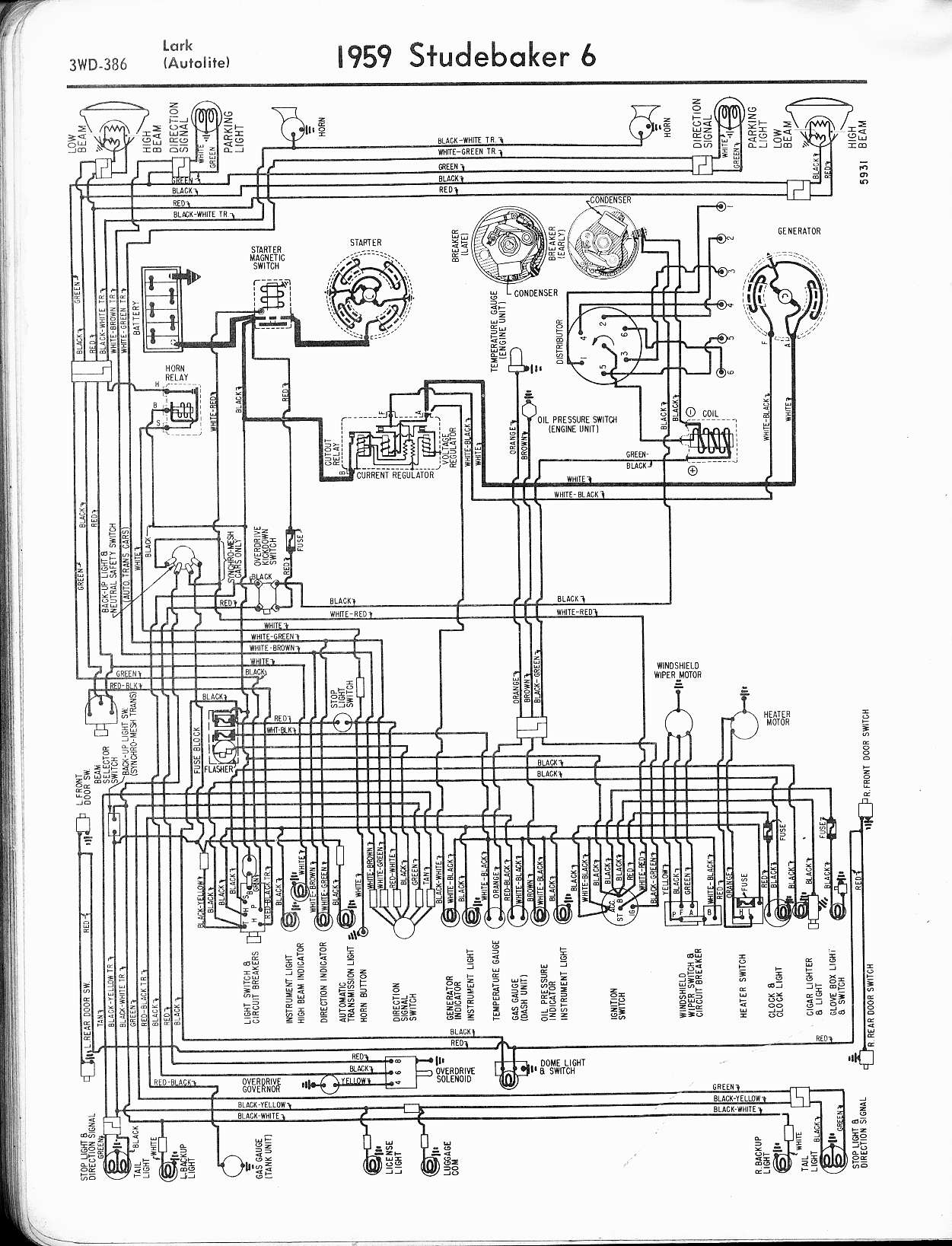 automotive wiring diagrams manual half switched outlet diagram studebaker the old car project
