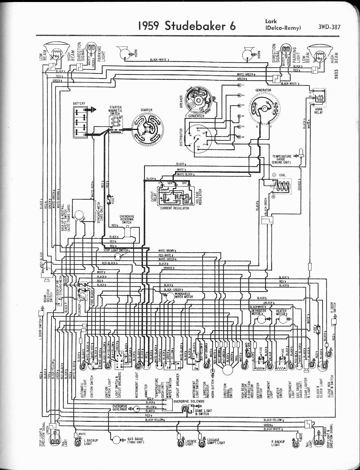 hight resolution of lark wiring diagram wiring diagram centre mix studebaker wiring diagrams the old car manual project1959 6