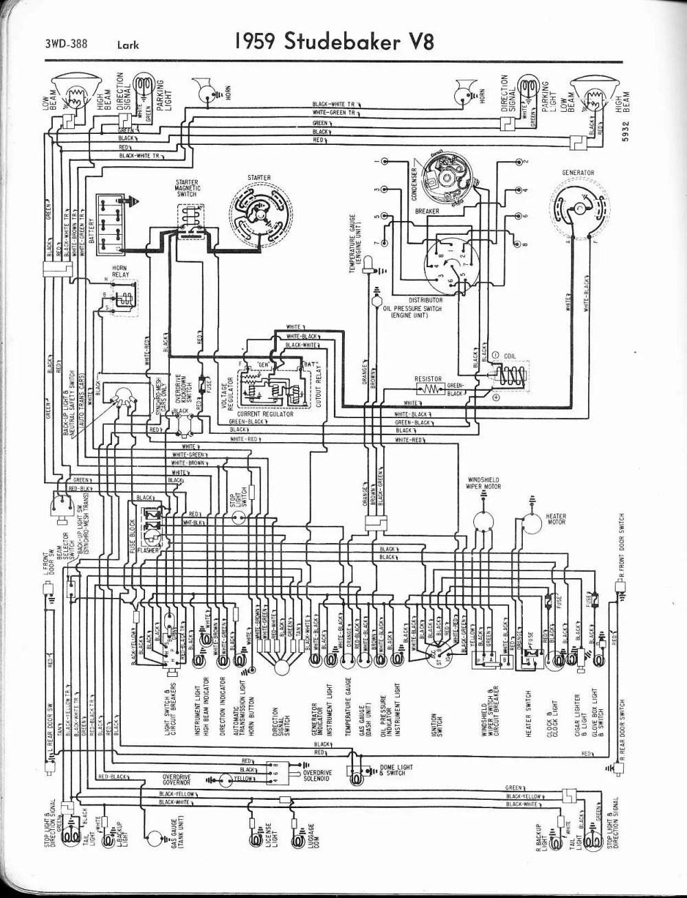medium resolution of studebaker wiring diagrams the old car manual project wiring diagram for 1962 studebaker 6 lark