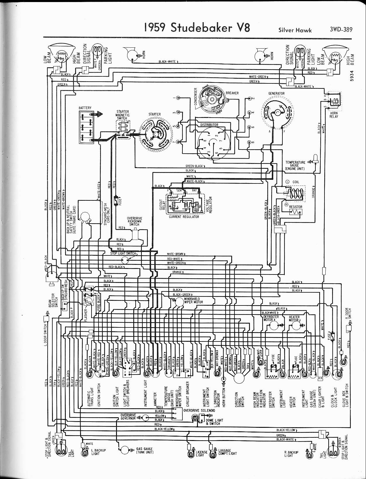 hight resolution of wiring diagram for 1960 studebaker v8 wiring diagram navstudebaker wiring diagrams the old car manual project