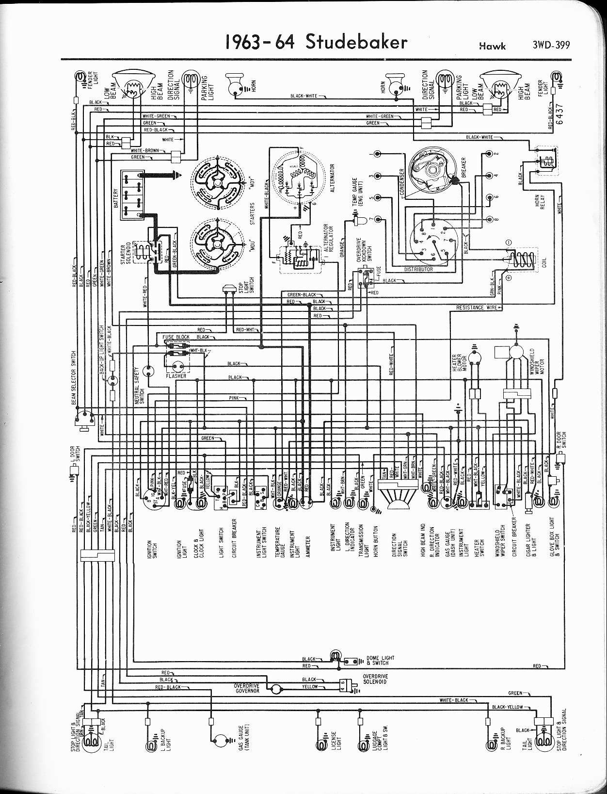 hight resolution of studebaker wiring diagrams the old car manual project wiring diagrams of 1957 studebaker and packard clipper
