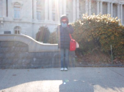 A solo traveller freezing in Washington DC!