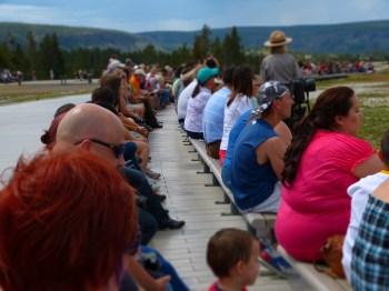 crowd tilt shift