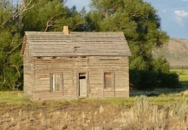 wooden cabin fence gone