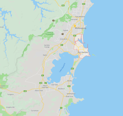 Port Kembla Location map