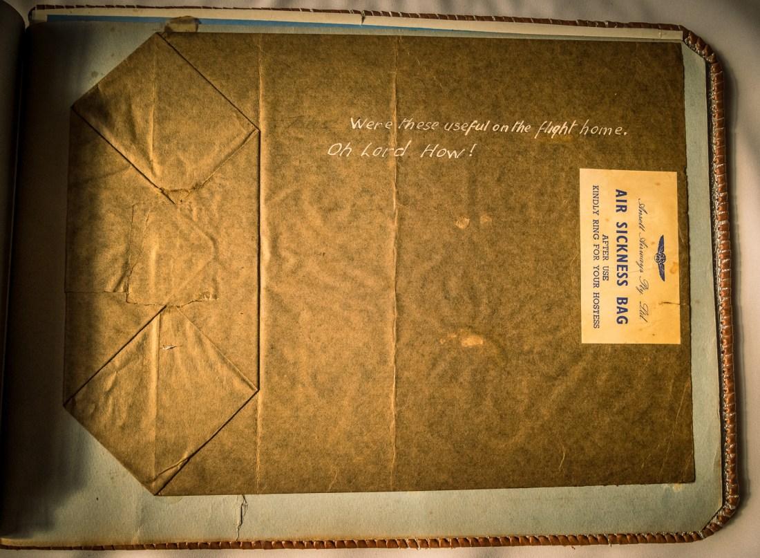 an old air sick bag