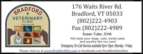 Ad image for Bradford Veterinary Clinic on 176 Waits River Road in Bradford, VT 05033