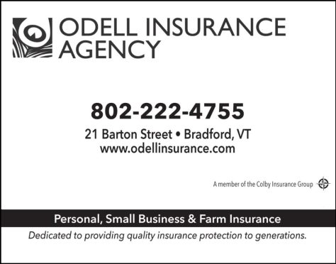 Ad image for Odell Insurance Agency on 21 Barton Street in Bradford, VT 05033