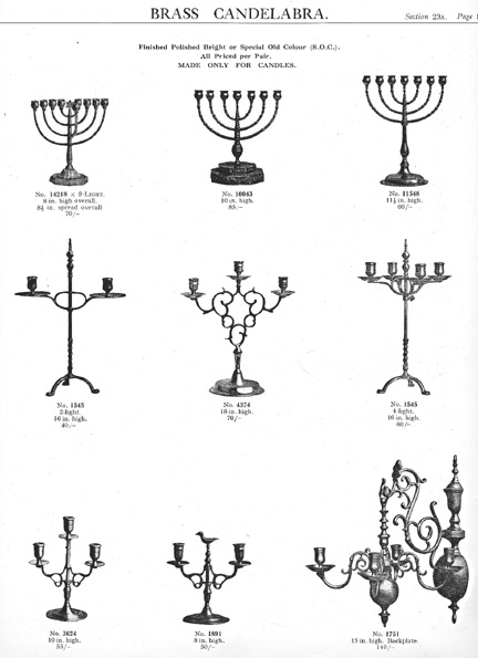 Peerage Pearson Page Candlesticks brass