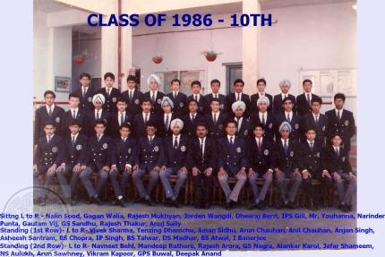 Vth Form 1986